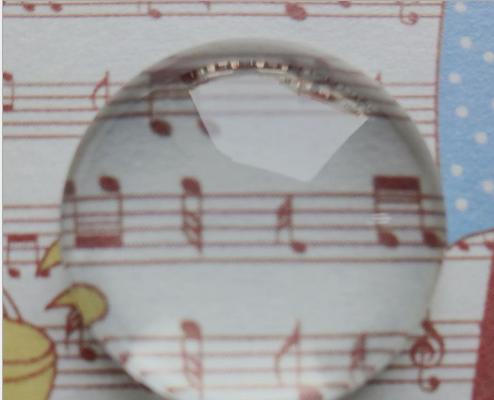 Phụ kiện trang sức Thời gian đang bán buôn DIY trang sức ngọc thủy tinh tròn phụ kiện gắn phôi trắng
