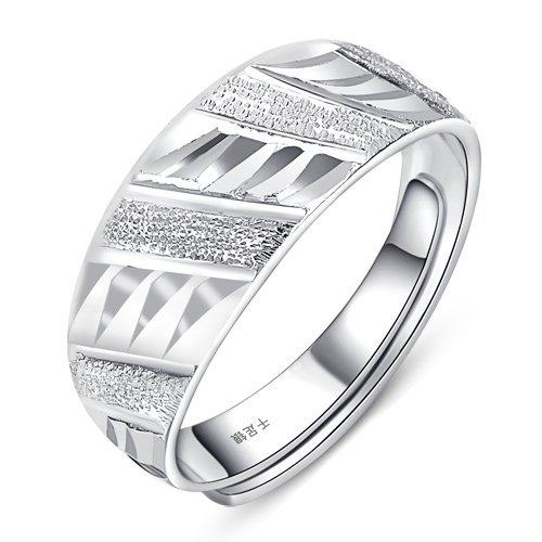 Chiếc nhẫn quý ông S999 nhẫn bạc đủ tuổi thiếu niên nam nhẫn trang sức mở điều chỉnh Tanabata Beau V