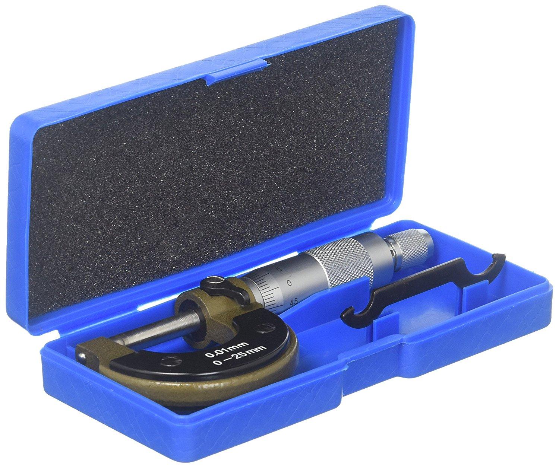 Uxcell 0 – 25 mm đường kính đo độ dày micrômét thước xếp