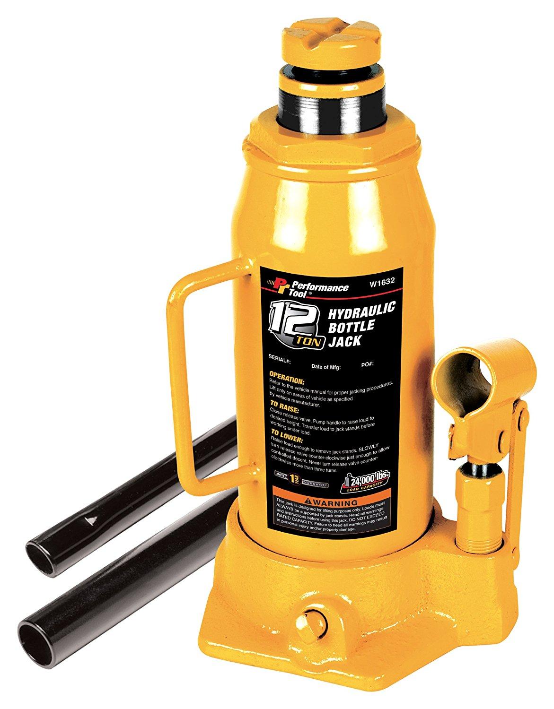 Performance Tool  Phong ba công cụ hiệu suất w1621 2 tấn vàng trong chai thủy lực, Jack 12 tấn (90.0