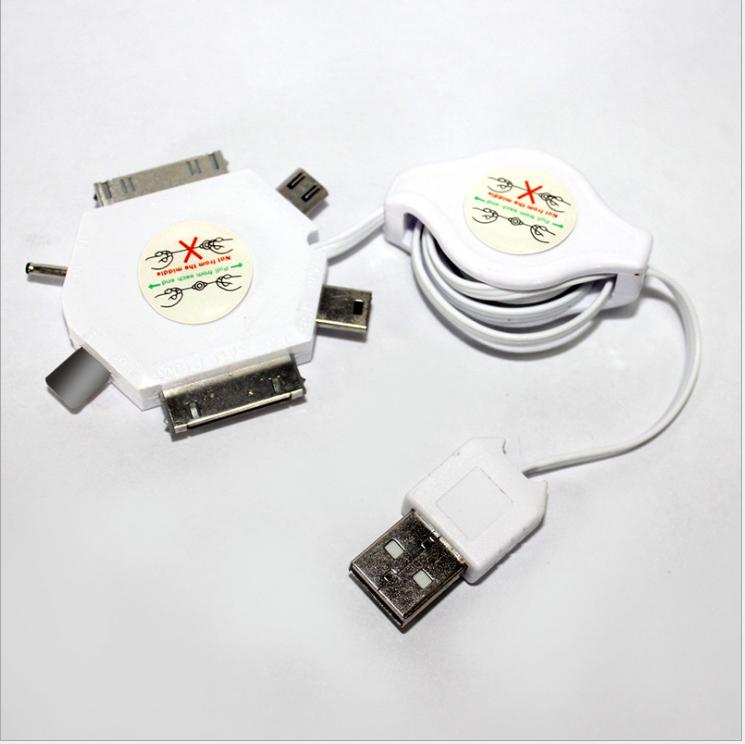 Cáp dữ liệu của thiết bị di động  Đường dây điện thoại tới dữ liệu dữ liệu USB 6 hợp 1 giao diện dòn