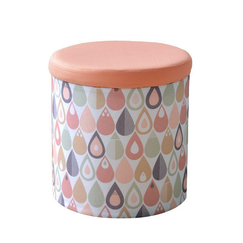 Park phường SIMPLEMILL Park phường sương màu quần áo lấy ghế đẩu gấp trữ vật phân xếp thùng hộp tròn