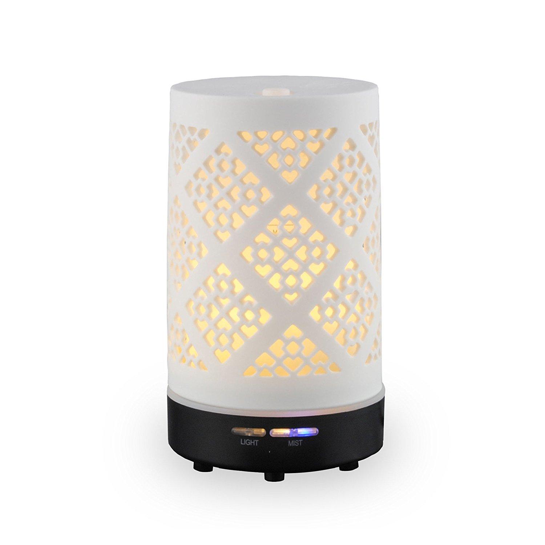 Nhà định GENE BY HIROSE máy tạo ẩm không khí nhỏ, nhà máy đèn ngủ văn phòng đồ gốm chạm rỗng ấm đèn