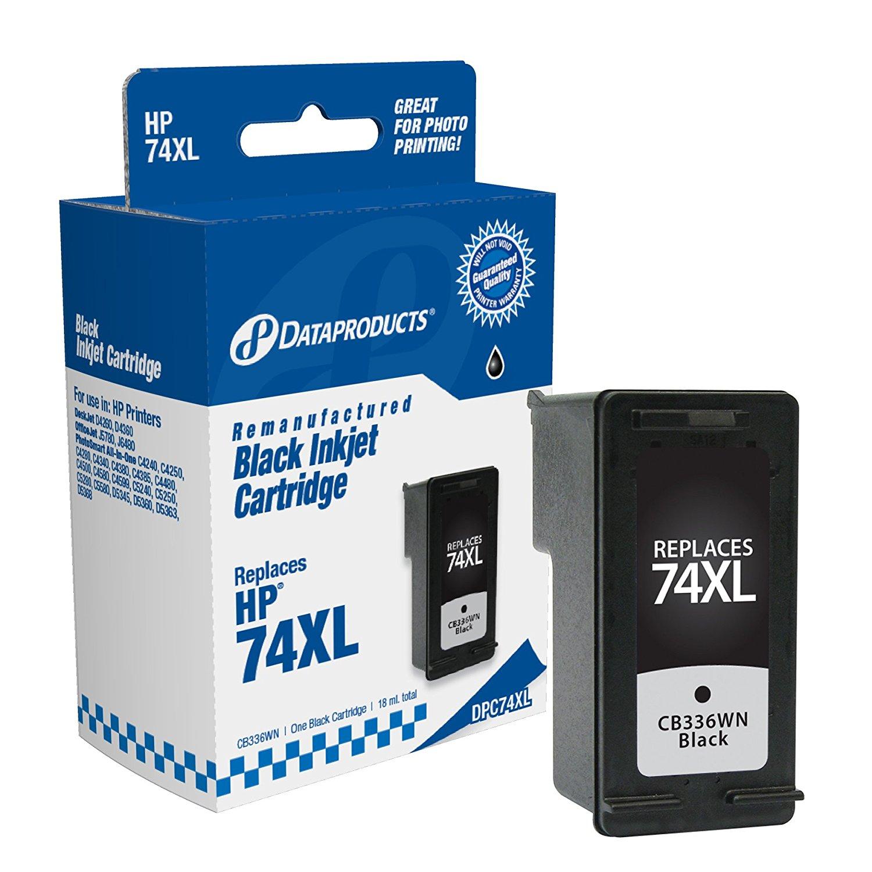 Dữ liệu tái tạo sản phẩm thay thế cho sản lượng cao dpc74xl hộp HP # 74xl (cb336wn) (đen)