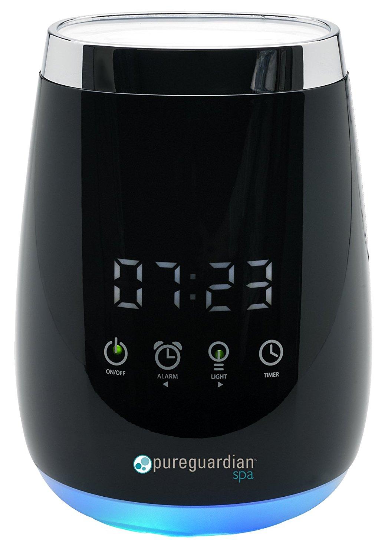 Pureguardian spa260 siêu âm lạnh sương mù sang trọng tinh dầu hương với đồng hồ thiết bị khuếch đại