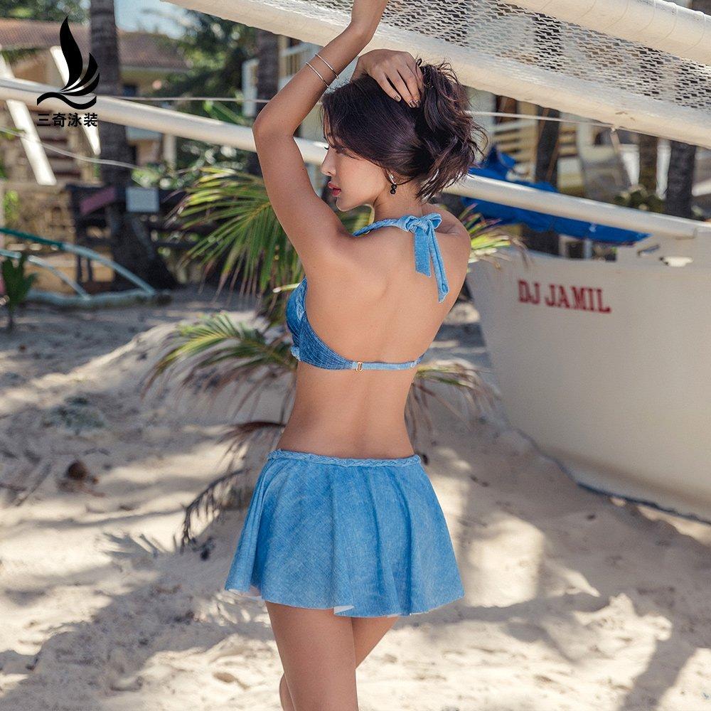 SANQI đồ bơi kiểu bikini 2017 thép mới hấp dẫn nhờ kích thước ngực gom lại tỏ ra bãi biển gầy Leisur
