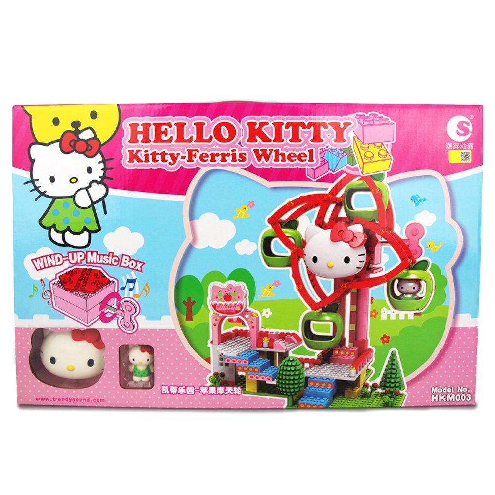 FERSOAR F, anime HelloKitty Kitty khối cấu trúc hộp nhạc nơi vui chơi đu quay HKM003