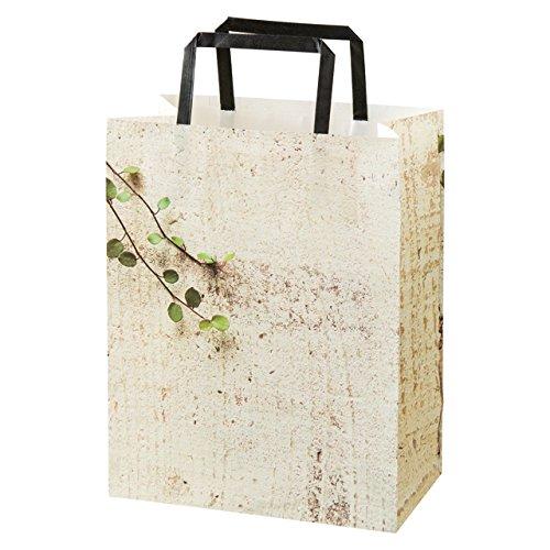 Cái túi giấy, với họa tiết màu xanh - 3 mảnh (50) TXG 3 người.