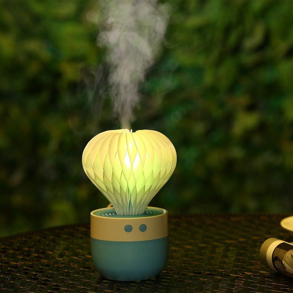 Echinopsis tubiflora mini máy tạo ẩm không khí dẫn sáng tạo không khí hoặcOrigami đèn tự động tắt [