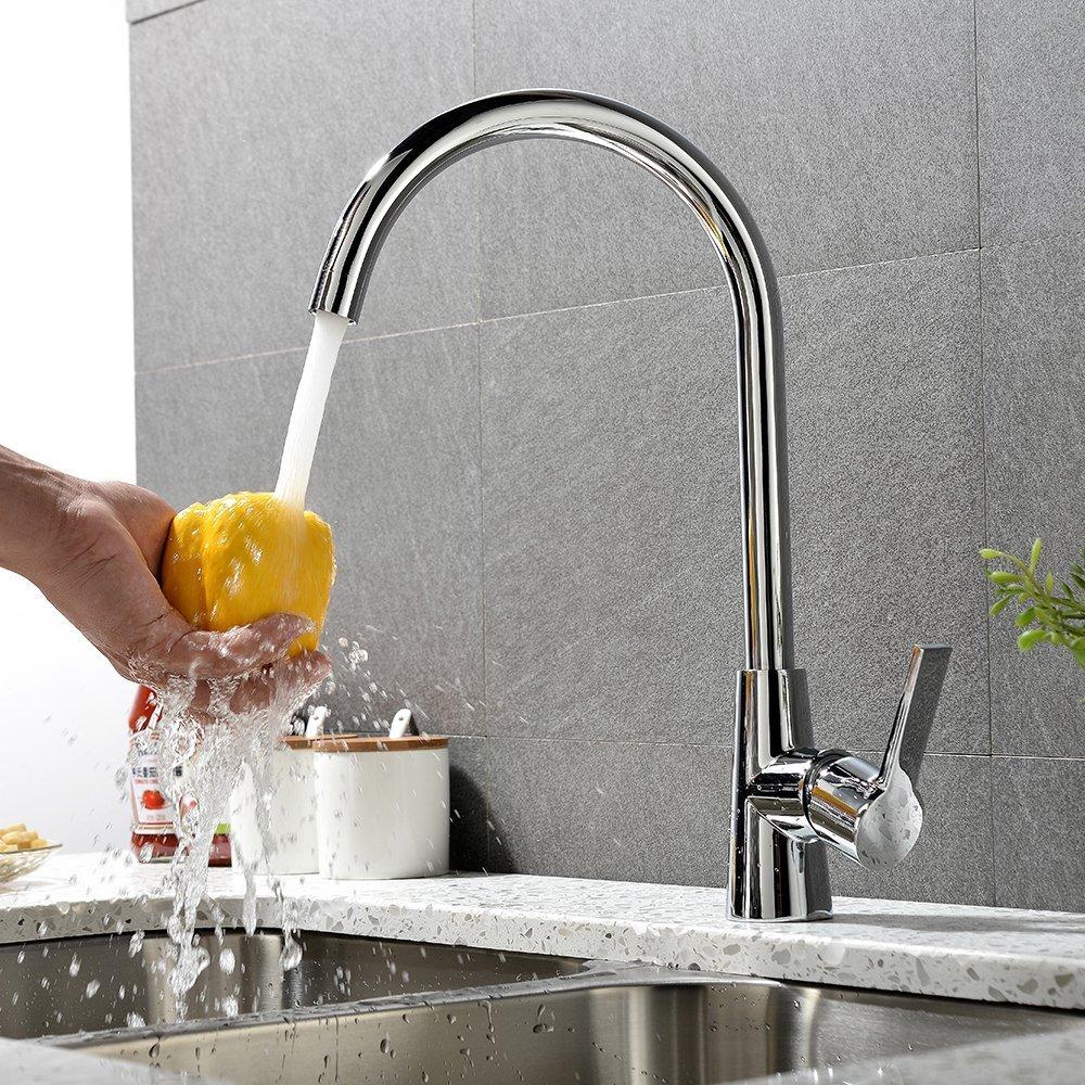 Họ KEGOO vòi nước nóng và lạnh K02001 rắn trong bồn rửa chén chậu rửa chén. Hồ bơi nước