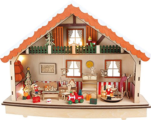 1289 nhỏ, chân đèn Giáng sinh, gỗ, màu, 34 cm x 45 x 13