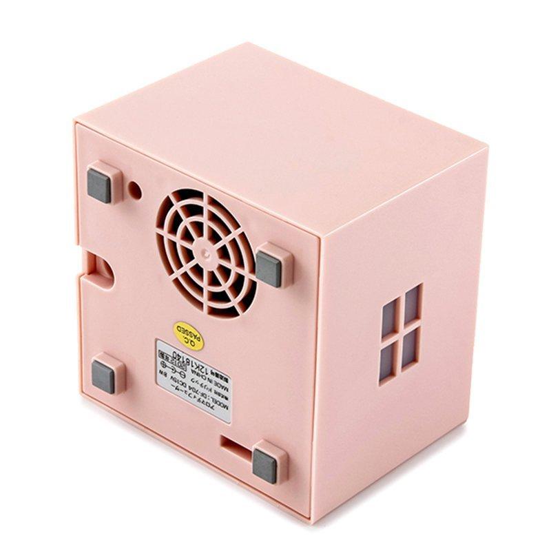 (dretec) máy siêu âm loại tinh dầu đèn tắt máy tạo ẩm không khí nhỏ DF-704 (Pink)