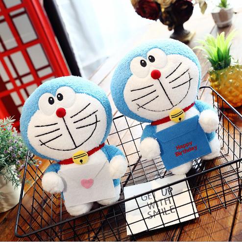 Đồ chơi hoạt hình Mới sáng tạo đồ chơi nhồi bông anime hoạt hình Doraemon đáng yêu mèo, mèo con búp