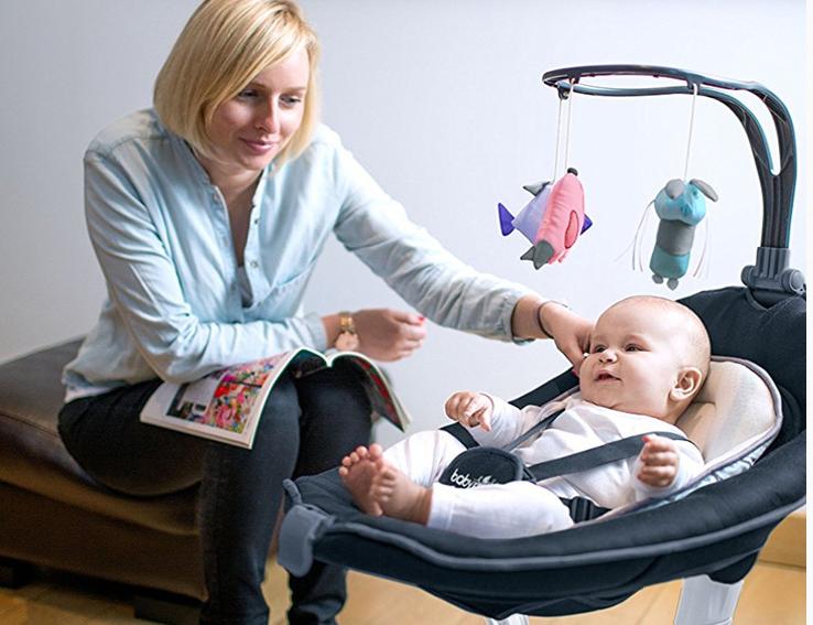 Cửa hàng điện babymoov Pháp và em bé sơ sinh đứa trẻ lang thang - rung giường nôi lắc ghế mang ghế