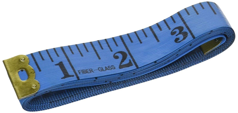 Uxcell mềm dẻo đàn hồi khâu băng keo thước đo đo, 1,5 mét / 1.8 cm, màu xanh.