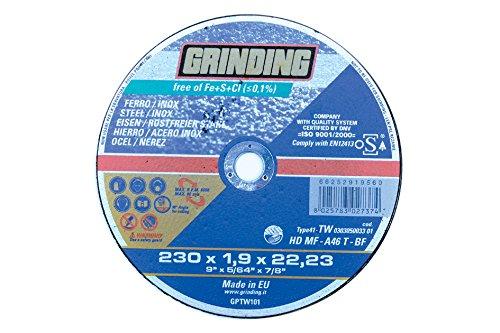 Grinding Áp dụng cho thép không gỉ sắt đá mài / A trung tâm Plan. Áp dụng cho công việc do cơ thể -,