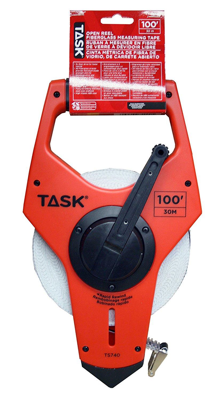 Nhiệm vụ cụ ts740 100 feet mở loại thước cuộn sợi thủy tinh mang 3 x ổ răng