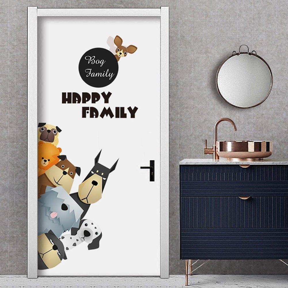 Phim hoạt hình phim hoạt hình sáng tạo do giấy dán tường dán dán nhãn dán trên tường cửa cửa phòng n