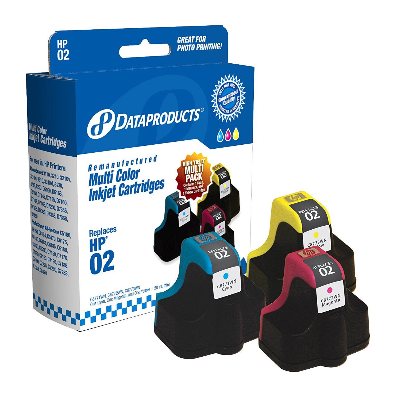 Sản phẩm tái tạo dữ liệu hộp dpc023clr Hewlett - Packard # 02 thay thế (nhiều gói thanh, Magenta, và