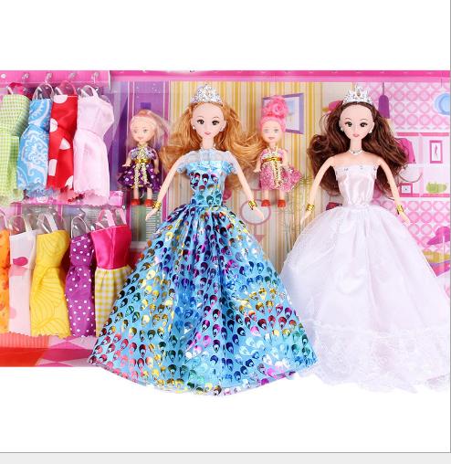 Đồ chơi hoạt hình - bộ đồ chơi trẻ em cô gái búp bê đồ giá rẻ hàng rong bán buôn quần áo quà sáng tạ
