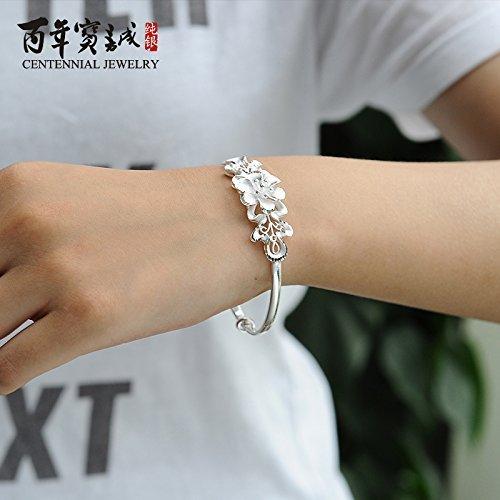 Trăm năm bảo biến tử kinh Hoa ngọt ngào và vòng tay vòng bạc 999 bạc ròng chỉ nhị Fashion đưa bạn gá
