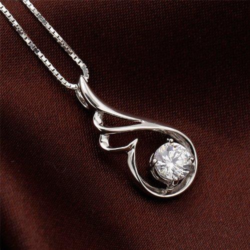 Ling giới thời trang trang trí mặt dây chuyền vòng trang sức, đôi cánh thiên thần trắng tím (với chu