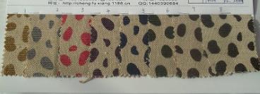 Nhật - Hàn Natural cotton printing dot hemp dot printing footprints linen cotton blended calico prin