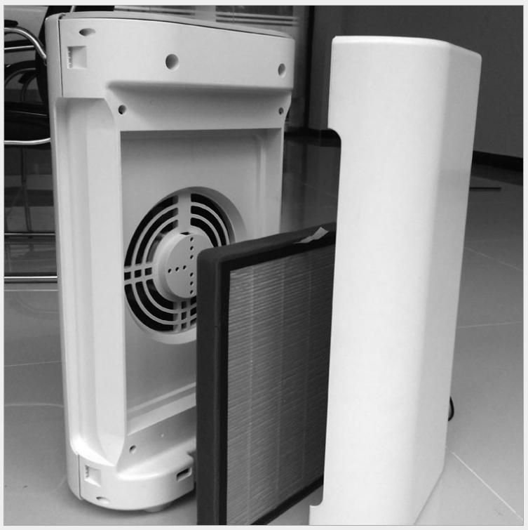 Thiết bị gia dụng  Máy lọc không khí gia dụng thông minh khi điều khiển được bật lên formaldehyde ch