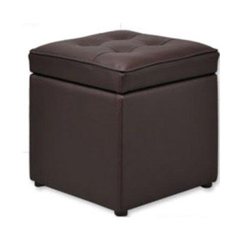 Handesu Han de su sofa ghế đẩu đơn thay đổi giày da khi trữ vật khi tiếp nhận ghế đẩu (màu cà phê)