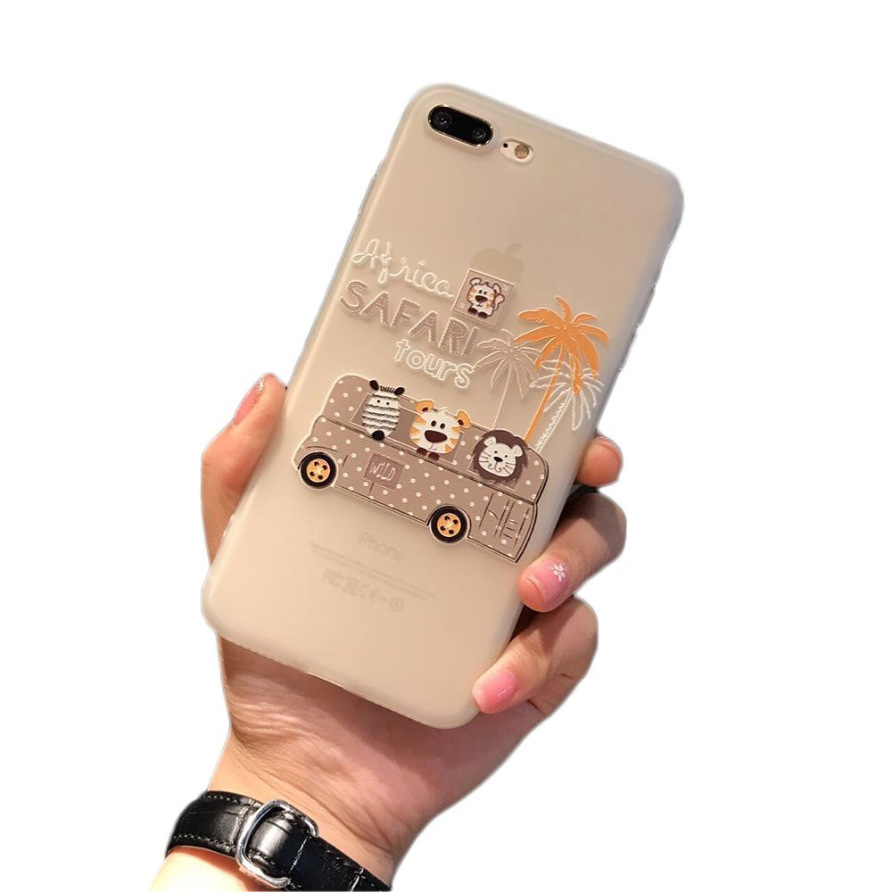 ZHILU knowledge, TPU, relief, mobile phone, shell, apple, iphone7plus, cell phone, shell, cartoon, 6