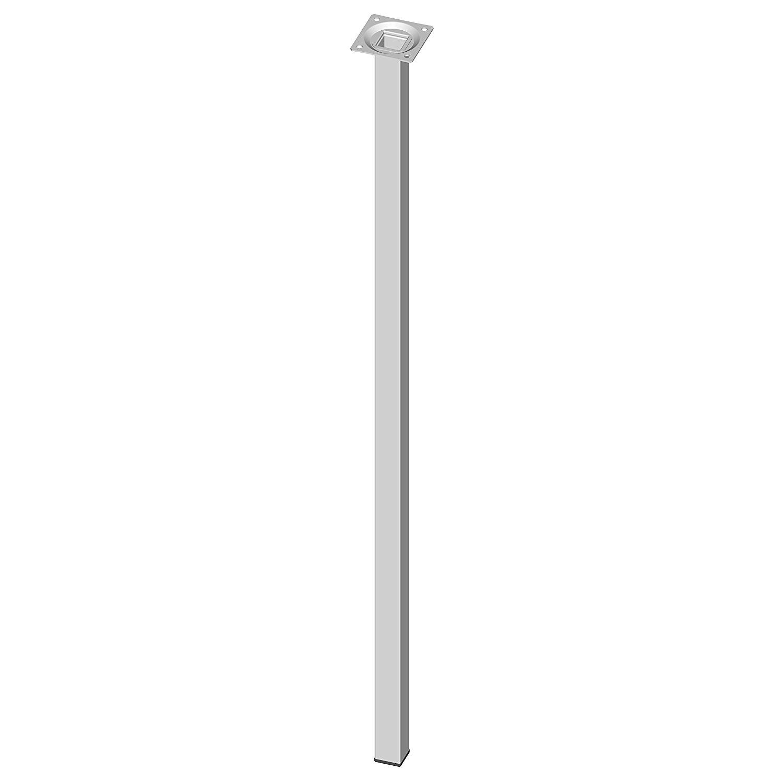 Hệ thống ELEMENT 11101 – 00015 4 x vuông ống thép không gỉ, bàn chân, Furniture feet bao gồm screw-o