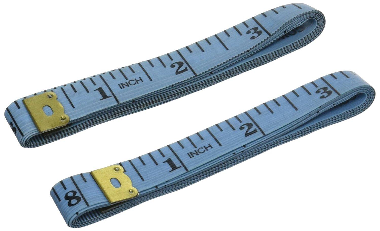 Uxcell 45 CUN song các loại thước đo nhựa công cụ (2 mảnh đạn), 1,5 mét, màu xanh.