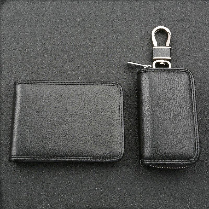 Augny báu chìa khóa xe giấy phép lái xe bao bì túi da bộ nam nữ cùng khoản hỗ trợ việc tùy chỉnh chi