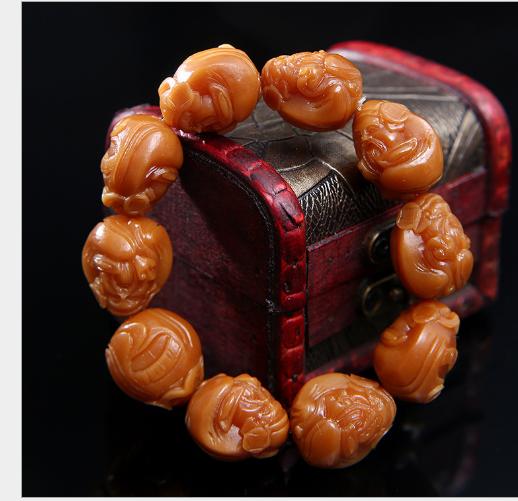 Khắc thủ công mỹ nghệ Nhà sản xuất bán buôn trắng Bồ đề gốc phong già khắc chạm hình cây thần tài li