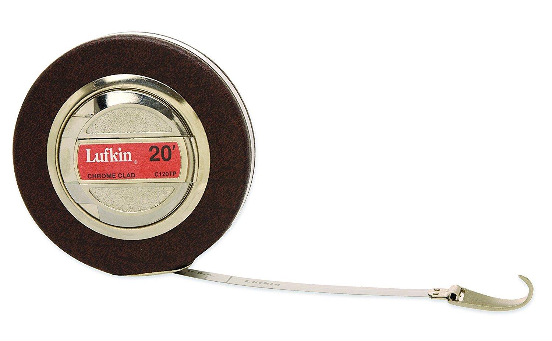 Lufkin 120tpn 3 / 5.08 cm x thợ thủ công có đường kính và Tree loại thước, màu đen.