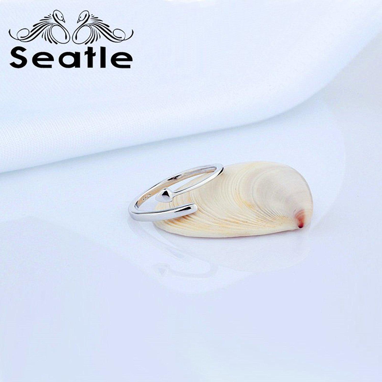 Seatle Seattle 925 bạc mở nhẫn nữ trang sức bạc nhẫn D - Nhẫn.