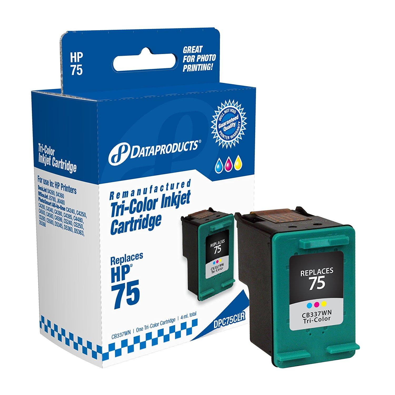 Sản phẩm tái tạo dữ liệu dpc75clr # H.P. 75 được thay thế (cb337wn) (hộp mực màu)
