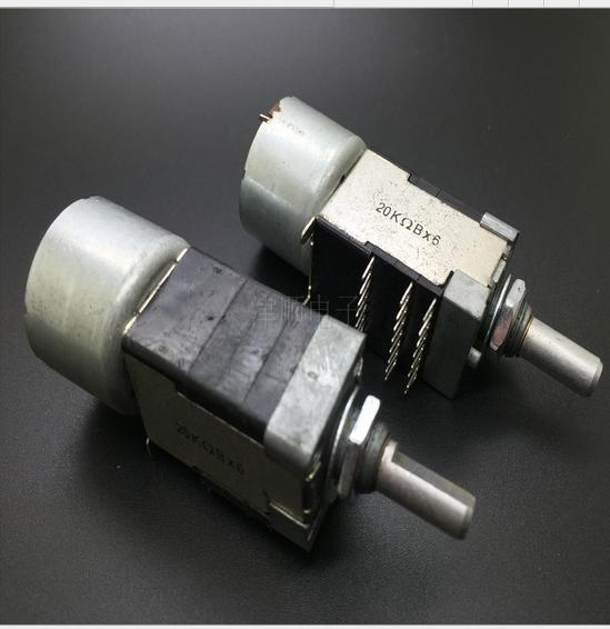 Máy chiết áp mang động cơ chiết áp 3 hàng 8 chân đôi liên B20KX6 20 bán trục DELTA Đài Loan sản