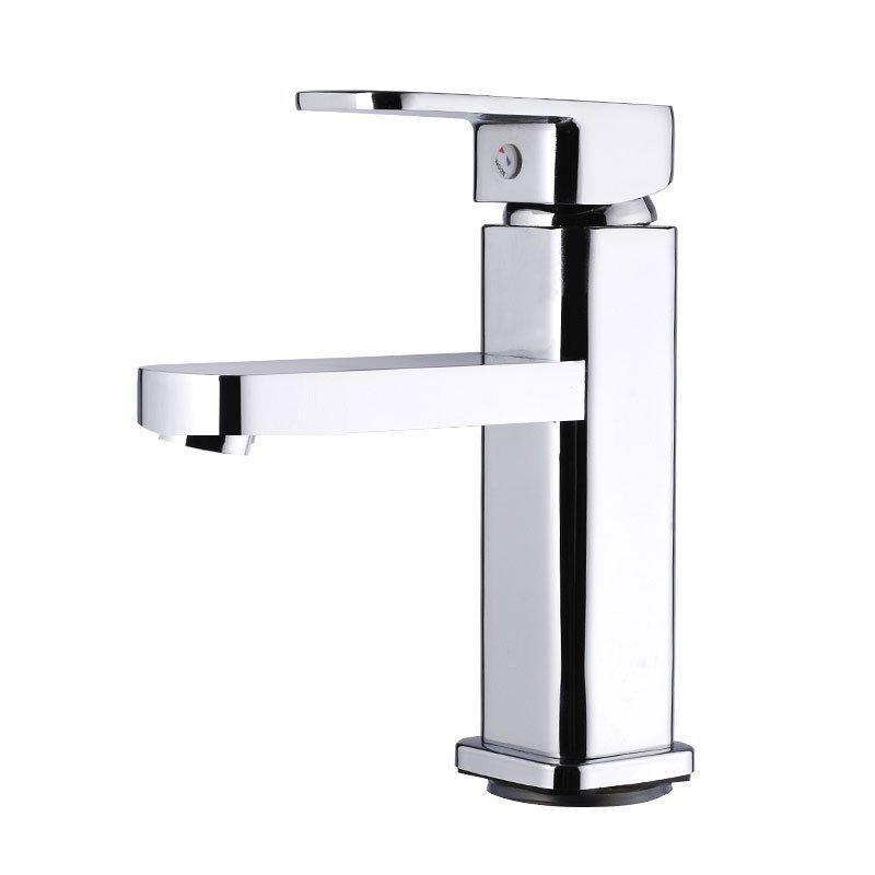Mộc tủ phòng tắm vòi nước cả đồng chậu rửa đầu rồng đơn Lỗ Đài chậu tắm vòi nước nóng và lạnh cái ch