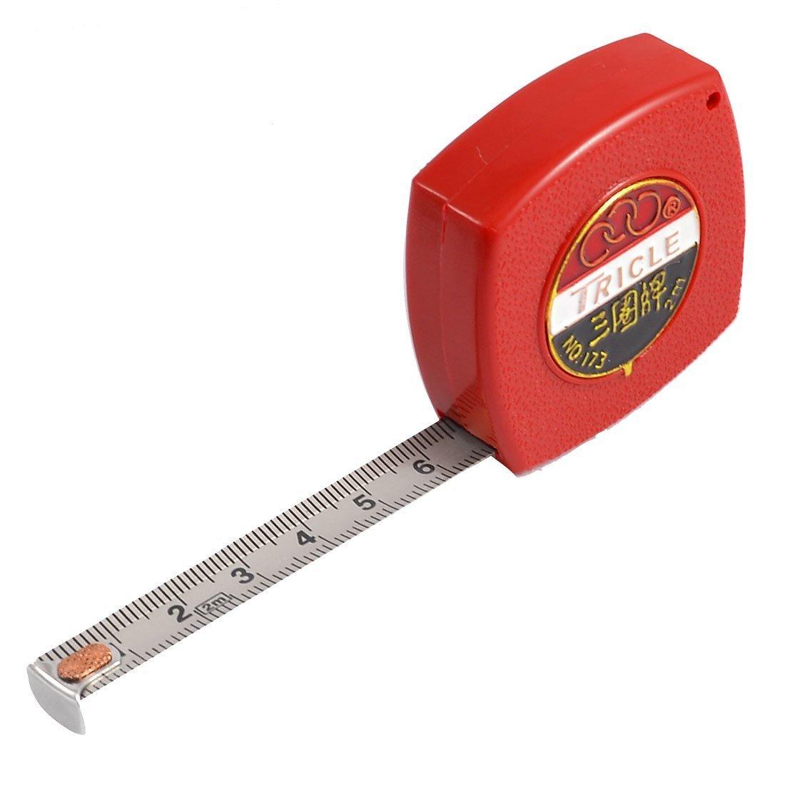 Uxcell 2 m từ thép công cụ đo lường metric thước đo băng dài 10 mm