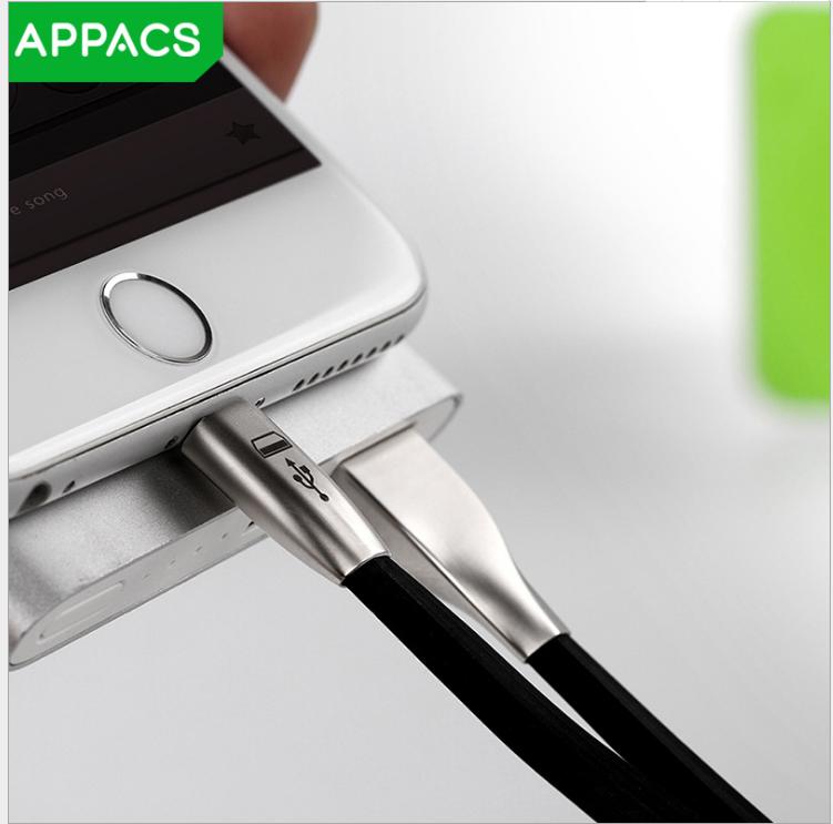 Cáp dữ liệu của thiết bị di động  Nhà sản xuất tia sáng tạo hợp kim kẽm kép dòng dữ liệu Apple Andro