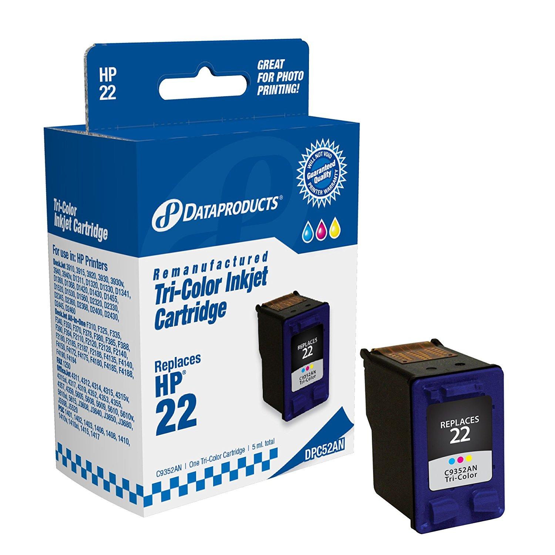 Sản phẩm tái tạo dữ liệu dpc52an Hewlett - Packard # 22 thay thế (c9352an) (hộp mực màu)