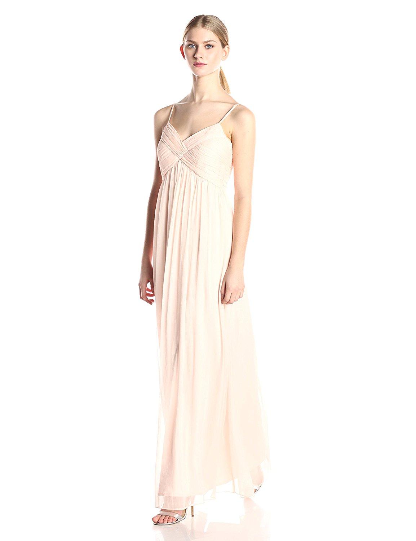 Minuet hút gấp chéo mặc coóc - xê váy dài màu hồng phương tiện