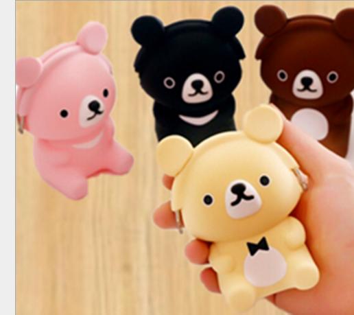 Túi xách cho trẻ em Phim hoạt hình ba chiều thỏ đáng yêu tiền túi Winnie silica gel Zero trẻ con lợn