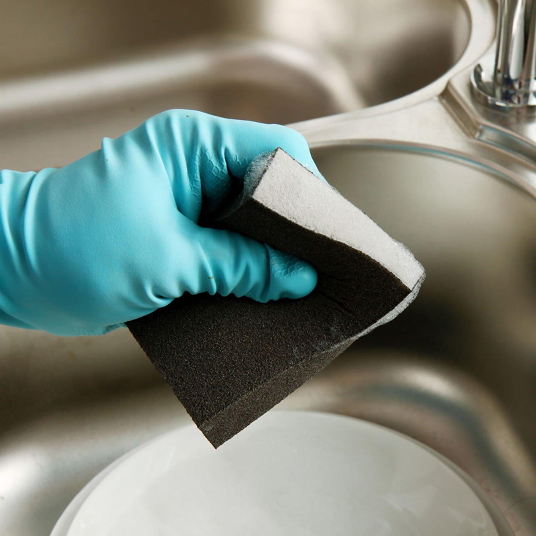 bếp rửa Bát bách sạch vải kim cát sạch bọt biển (4 vào)