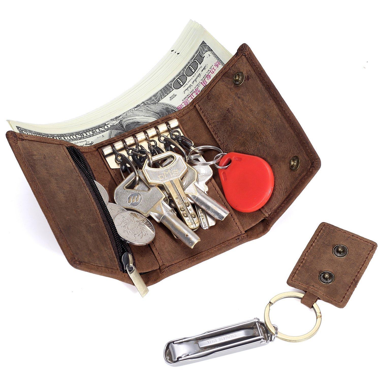Geremen Italy nhập khẩu ngựa điên kia cái túi da Trai chìa khóa thẻ chìa khoá xe có nhiều khả năng đ