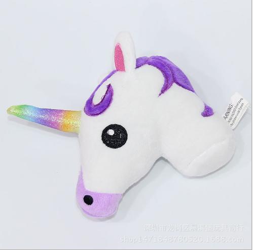 Đồ chơi hoạt hình lân cầu vồng đồ giá rẻ hoạt hình ngựa ngựa cái túi đồ chơi nhồi bông chiếc dây chu