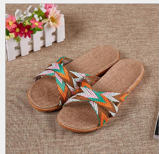 Giày dép nữ Nhật Bản mùa hè lanh đầu sọc không rẻ Vine cỏ tuoxie dép nhà cửa Đông Nam