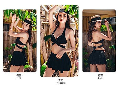 SANQI đồ bơi kiểu váy quần bikini gợi cảm chăm sóc ngực nhỏ bằng thép góc bẹt quần tụ tập hiển gầy đ