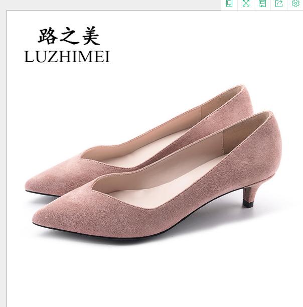 Giày cao gót mũi nhọn thời trang Hàn Quốc 2019